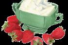 Mascarpone + Strawberries