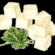 Tofu + wakame