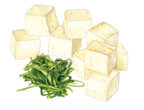 Tofu-+-wakame